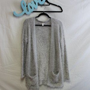 CATO Silver Grey Sparkly SOFT Cardigan Sweater M